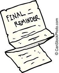 cartoon doodle final reminder