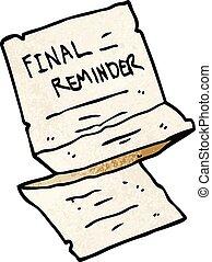 cartoon doodle final reminder letter