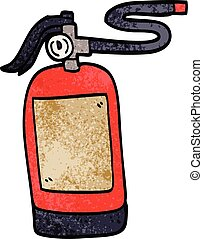 cartoon doodle fire extinguisher