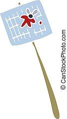 cartoon doodle fly swatter