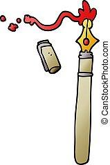 cartoon doodle fountain pen