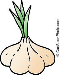 cartoon doodle garlic bulb