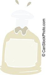 cartoon doodle glass decanter