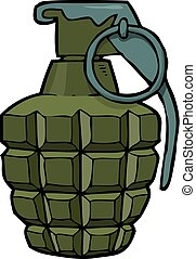 Cartoon doodle grenade on a white background vector...