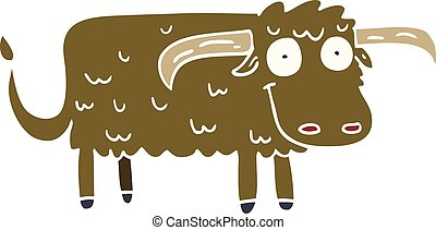 cartoon doodle hairy cow