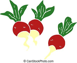 cartoon doodle healthy radish