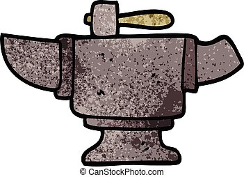cartoon doodle heavy old anvil