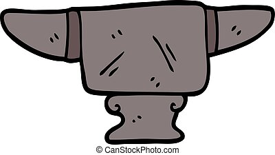 cartoon doodle heavy old anvil