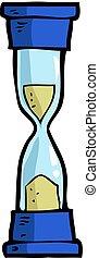 Cartoon doodle hourglass