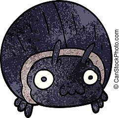 cartoon doodle huge beetle