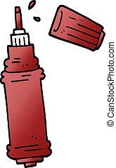 cartoon doodle ink pen