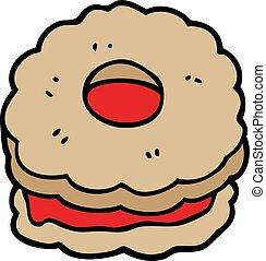 cartoon doodle jammy biscuit