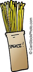 cartoon doodle  jar of spaghetti