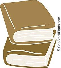 cartoon doodle journal books