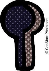 cartoon doodle keyhole