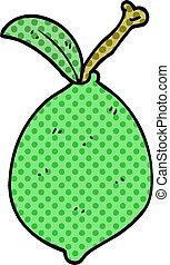 cartoon doodle lime fruit