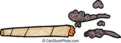 cartoon doodle lit joint