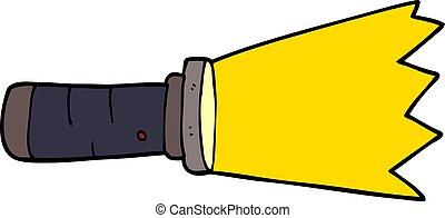 cartoon doodle lit torch