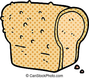 cartoon doodle loaf of bread