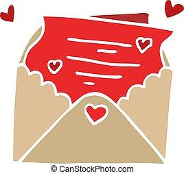 cartoon doodle love letter