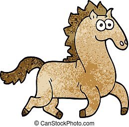 cartoon doodle magnificent stallion