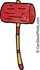cartoon doodle mallet
