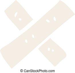cartoon doodle medical sticking plaster