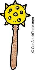 cartoon doodle medieval mace