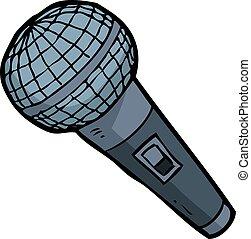 Cartoon doodle microphone