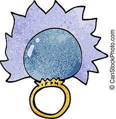 cartoon doodle mood ring