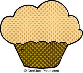 cartoon doodle muffin