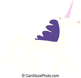 cartoon doodle mystical unicorn