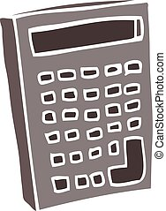 cartoon doodle of a calculator