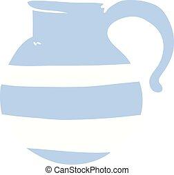cartoon doodle of a jug