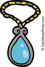 cartoon doodle of a pendant