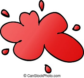 cartoon doodle of a red splat of paint