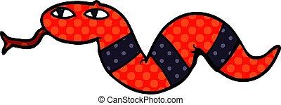 cartoon doodle of a snake