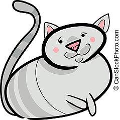 cartoon doodle of cat