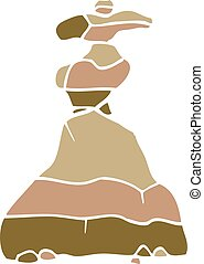 cartoon doodle of stacked stones