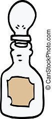 cartoon doodle oil dripper with pipette