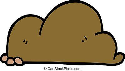 cartoon doodle pile of dirt