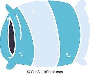 cartoon doodle pillow