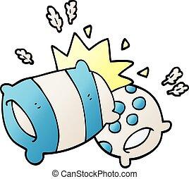 cartoon doodle pillow fight