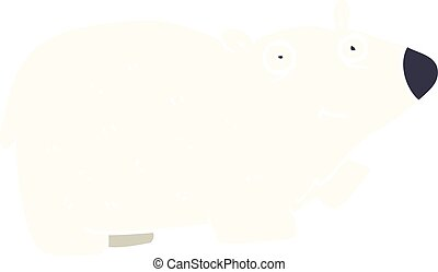 cartoon doodle polar bear