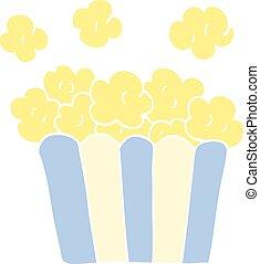 cartoon doodle popcorn