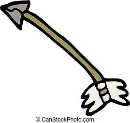 cartoon doodle primitive arrow