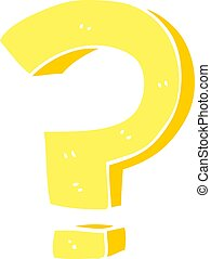 cartoon doodle question mark
