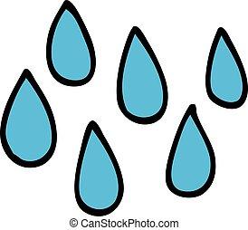 cartoon doodle rain drops