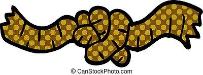 cartoon doodle rope knot