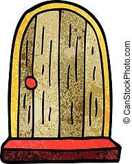 cartoon doodle round doorway